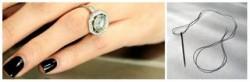 кольцо на пальце, игла с ниткой