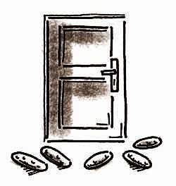 подклад под дверью