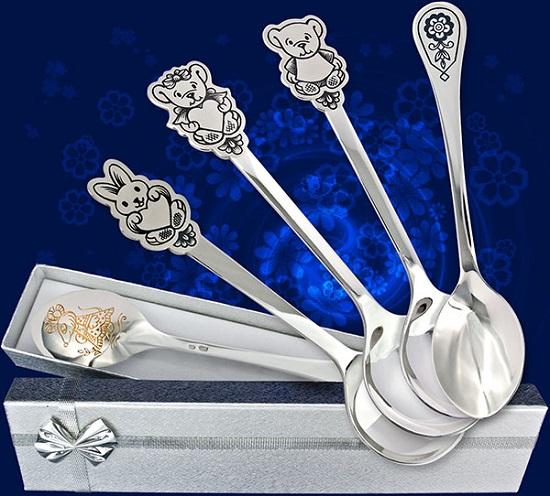 серебряные ложки для детей